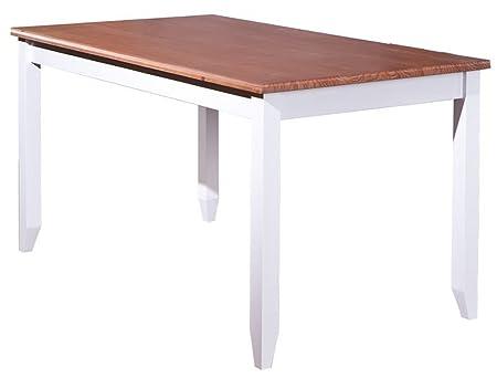 Table à manger en bois massif - Dim : L 160 x P 90 x H 80 cm -PEGANE-