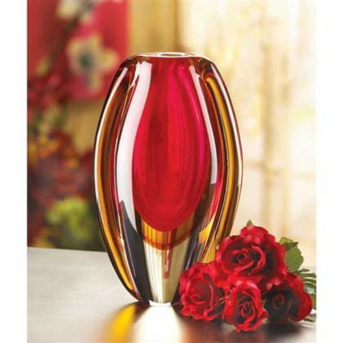 Eastwind Gifts 12117 Sunfire Glass Vase By Eastwind Gifts