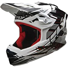 Fly Racing Default Adult Full Face Bike Sports BMX Helmet - Black/White / Medium