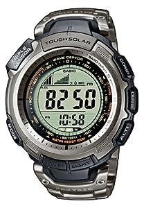 CASIO Sport Pro Trek PRW-1300T-7VER - Reloj unisex de cuarzo, correa de titanio color plata