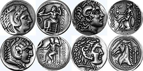 アレクサンダー素晴らしい 4 有名な硬貨、ギリシャの神々 ・女神のコレクション、(ALEXSET4 S)