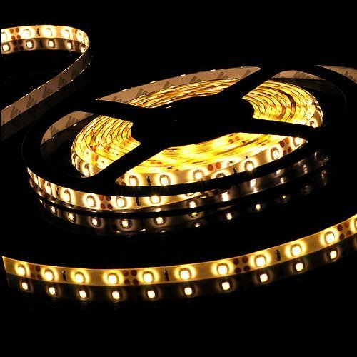 Decorative 16Ft 5M Warm White 3528 300-Smd Led Strip Light For Christmas Tree Ceiling Back Lighting front-836917