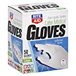 Rite Aid Gloves, Latex Medical, Large, 50 gloves