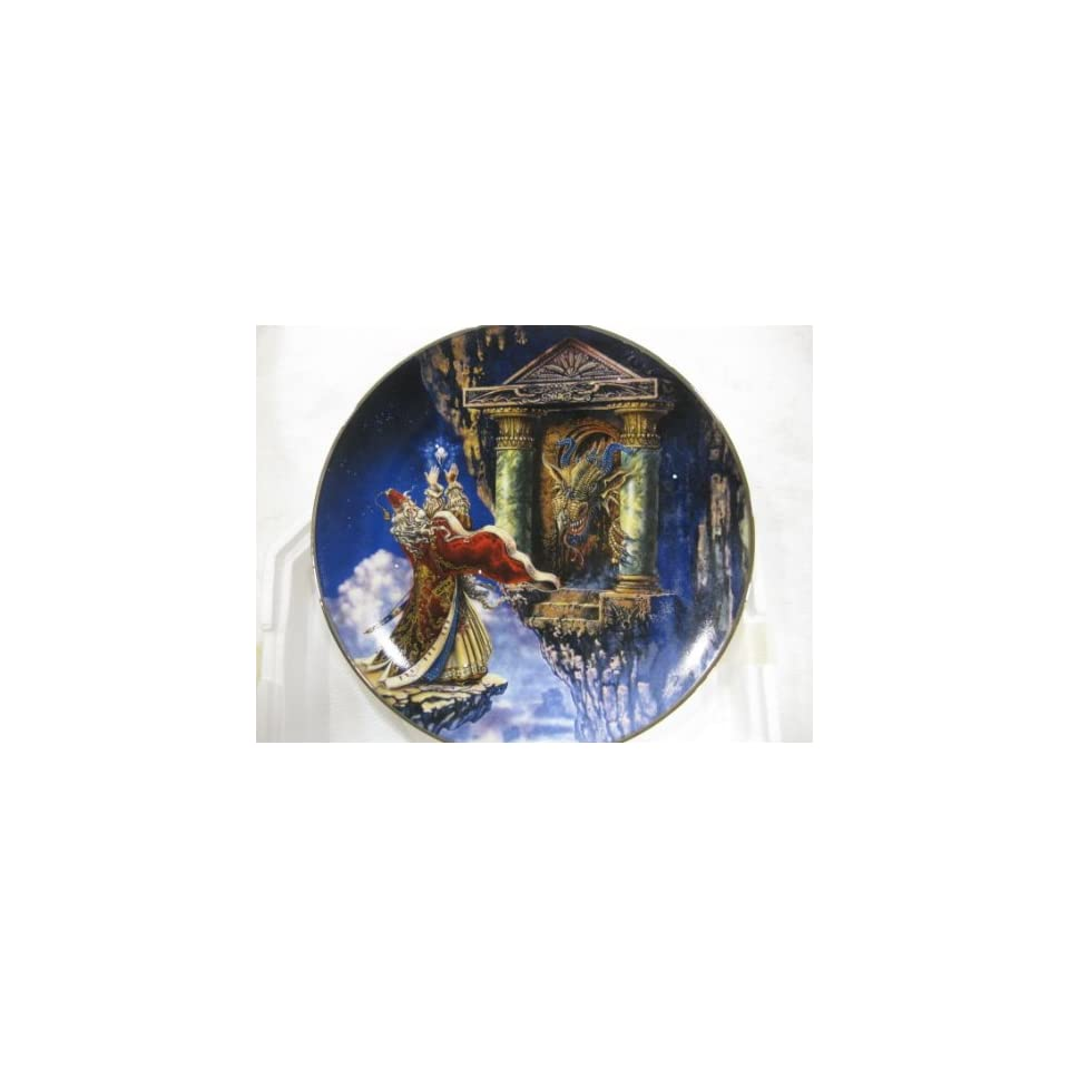 Dragon Offering Collectible Plate by Myles Pinkney from The Franklin Mint Heirloom Recommendation Royal Dalton Limited Edition Fine Bone China Plate Number RA9761