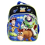 "Disney Toy Story Black Boys 10"" Backpack Woddy & Buzz"