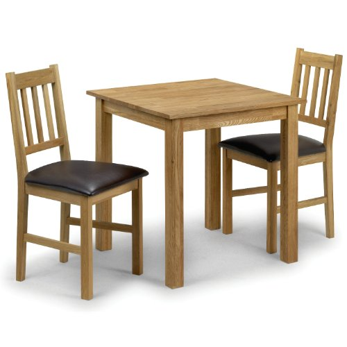 Coxmoor Dining Table - 75cm, Square, Solid Oak - with 2 Chairs