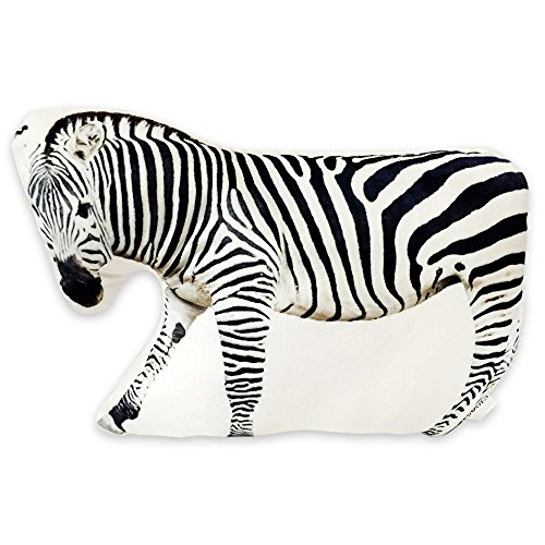 SOGES 3D Zebra Shaped Cushion Decorative Cuddle Pillow Car Sofa Chair Back Pillows Plush Toy Chirstmas Gift
