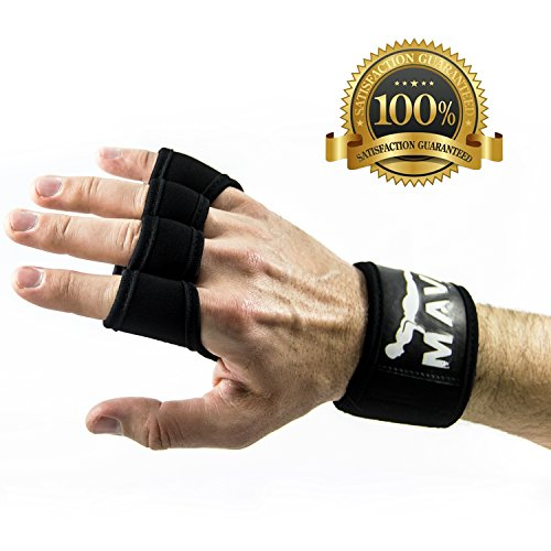 Crossfit Gloves with Wrist Support for Gym Workout, Weightlifting, Cross Training and Fitness - Extra Padding to avoid Calluses - Suits both Men and Women - The Best Weight Lifting Gloves for a Strong Grip - Mava Sports Premium Quality Equipment (Large)