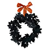 Grasslands Road Pretty Wicked Black Leaf Wreath with Ribbon Hanger Picture