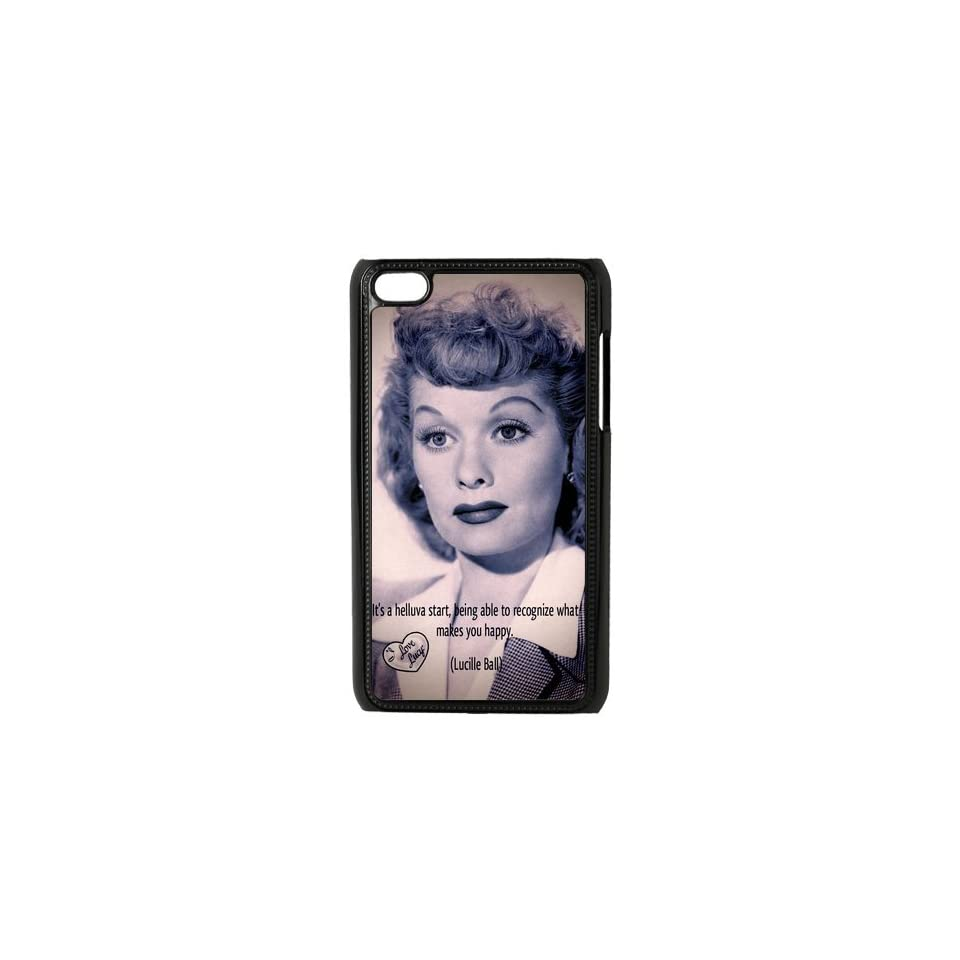 I Love Lucy Lucille Ball series plastic case for Ipod Touch 4   Players & Accessories