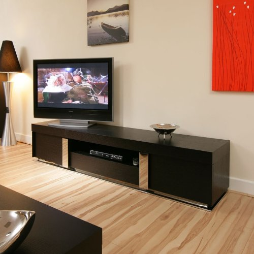 Large TV / Television Cabinet/Entertainment Unit/Center Black Oak 912F