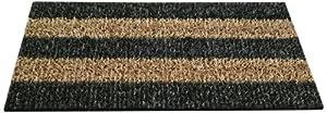 Clean Machine Patio Stripe Doormat, 18 by 30-Inch, Root Beer
