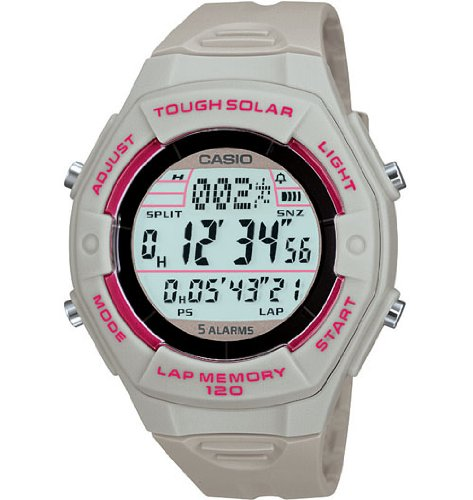 Casio Women's LWS200H-8ACF Solar Runners 120-Lap Digital Sport Watch