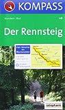 Der Rennsteig - Hörschel - Blankenstein: Wanderkarte mit Kurzführer, Radtouren und Höhenprofil. 1:50000