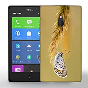 Snoogg Butterfly In Grass Printed Protective Phone Back Case Cover For Nokia Lumia XL