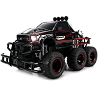 Velocity Toys Speed Spark 6x6 Electric RC Monster Truck Big 1:12 Scale RTR W/ Working Headlights, Dual Rear Wheels...