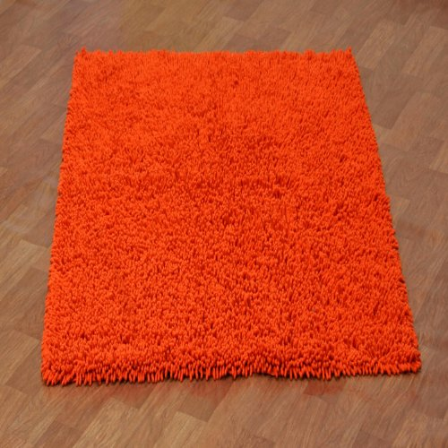 Shagadelic Chenille Twist Rug, 4 by 6-Feet, Orange