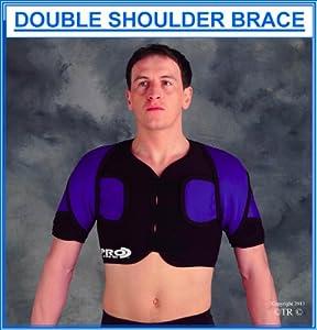 Prolineonline Double Shoulder Brace Support Compressive Neoprene, L XL. by Prolineonline