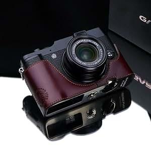 Gariz Genuine Leather XS-CHX10BR Camera Metal Half Case for Fuji Fujifilm X10 X20, Brown
