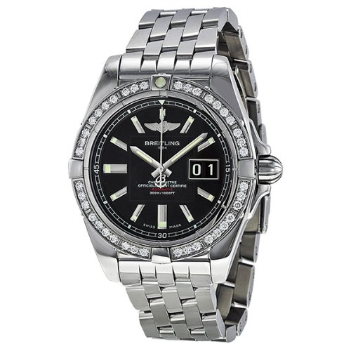 Breitling Galactic 41 Diamond Automatic Black Dial Mens Watch A49350LA-BA07