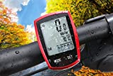 Wireless Bicycle computer Arova Waterproof Bike Speedometer Odometer LCD Backlight Displays-22 Function Bicycle Cyclocomputer: Track Cycling Distance, Speed, Calories-Red ArovaDirect
