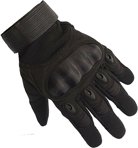 Dhana Style Full Finger Hard Knuckle Protection Tactical Gloves Sports Gloves For Shooting Airsoft Hunting Climbing Motorcycle Riding Cycling and other Outdoor Activities Type:O.J.S. Full (Black, L) (Ninja Climbing Gloves compare prices)