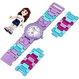 LEGO Kids' 9001000 LEGO Friends Olivia Plastic Watch with Link Bracelet and Figurine