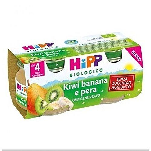 HiPP Biologico Omogeneizzato Kiwi Banana E Pera 2x80g