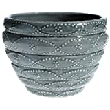 Global Pottery T186-6 Beehive Planter, Grey, 6-Inch