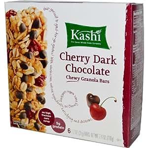 Kashi TLC Chewy Granola Bars . Cherry Dark Chocolate 6 - 1.2 Oz (35g ...