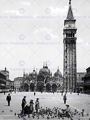 piazza-san-marco-campanile-venice-italy-1895-old-bw-photo-print-12x16-inch-30x40cm-poster-affiche-70