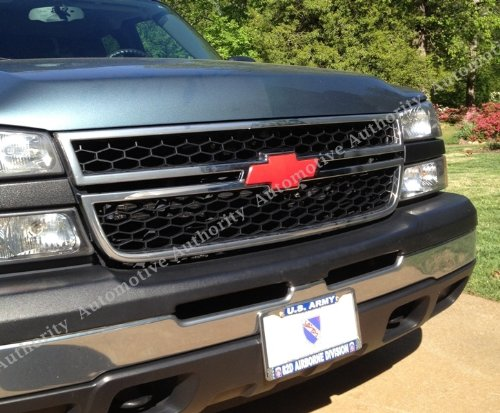 Carbon Sticker Check Out Chevrolet Silverado Red - Chevy silverado bowtie decal