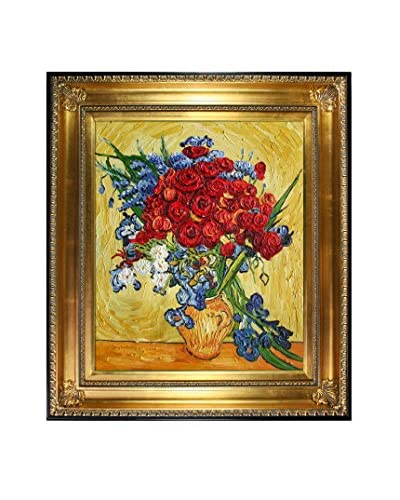 Vincent Van Gogh Poppies And Iris Collage (Artist Interpretation) Hand-Painted Reproduction
