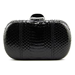 Inge Christopher Erin Snaksin Minaudere Clutch, Black, One Size
