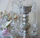Crystal Clear Icicle Acrylic Bobeche Candle Ring
