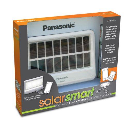 Panasonic Panasonic SolarSmart Pocket Solar Power for Mobile Devices - Solar Chargers - Retail Packaging - Cadaverous/Black