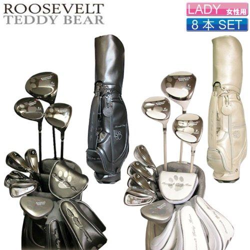 ルーズベルトテディベア ROOSEVELT TEDDY BEAR レディスハーフセット RTB L-1(8本セット) カーボン(パターのみスチール) レディス L 【CB】グレー