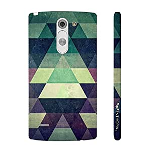 LG G3 Stylus Green Pyramids designer mobile hard shell case by Enthopia