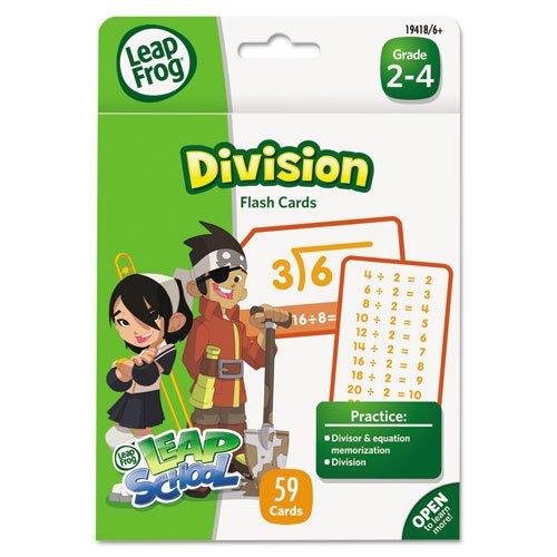 The Board Dudes Leapfrog - Leapfrog Flash Cards, Division, 4 3/4 X 6, 55 Cards 19418 (Dmi Ea