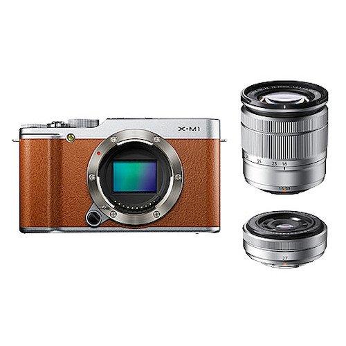 FUJIFILM デジタル一眼カメラ X-M1 Wレンズキット ズームレンズ付属 1630万画素APS-C ブラウン F X-M1BW/1650/27KIT