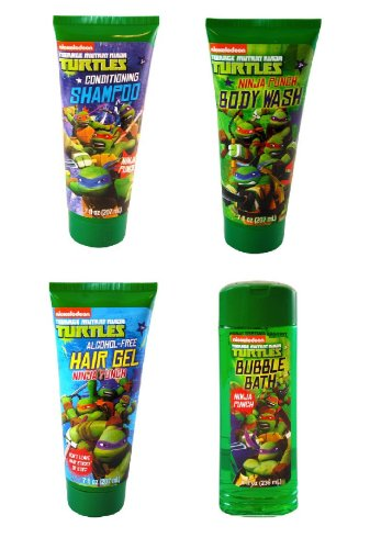 Nickelodeon Teenage Mutant Ninja Turtle 4 Pack Bathing Gift Set - 1
