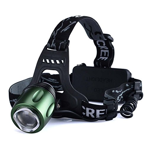 Happiness At Home 1600Lm Cree Led Zoomable Rotating Headlight, Tactical Headlamp 3 Switch Modes Rechargeable Cree T6 Led Headlamp Torch Light With Charger