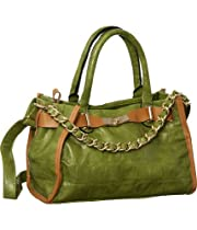Green 'Golden Chain Croco' 2-Way Satchel