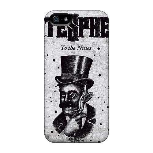 Iphone 5/5s LKR4308gdMF Support Personal Customs Lifelike Hatesphere Band Skin Best Hard Phone Cases -JasonPelletier