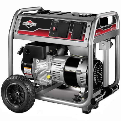 Briggs & Stratton 30466 4,375 Watt 250cc Gas Powered Portable Generator With Wheel Kit