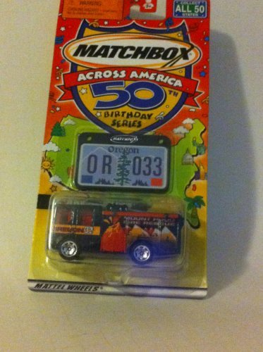 Matchbox Across America 50th Birthday Series Oregon Dennis Sabre Fire Truck - 1