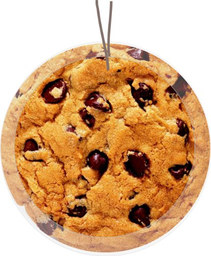 Rikki Knight Chocolate Chip Cookie Design Glass Round Christmas Tree Ornament Suncatcher