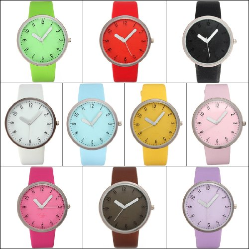 Fashion Leather Band Women Lady Girl Analog Quartz Wrist Watch Valentine Gift