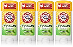 Arm & Hammer Essentials Deodorant, Fresh, 2.5 Oz/pack, 4 pack