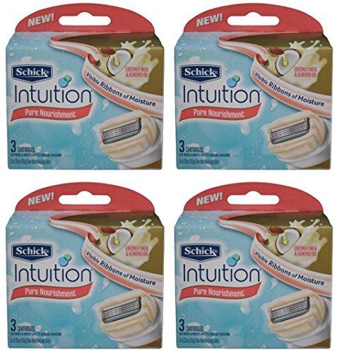 schick-intuition-pure-nourishment-coconut-milk-almond-oil-razor-blade-refill-cartridges-12-count-by-